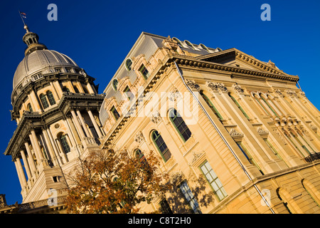 Springfield, Illinois - fall by State Capitol Building - Stock Photo