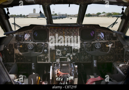 View of Barksdale Air Force Base, LA flightline from inside a B-52 Stratofortress on April 29. - Stock Photo