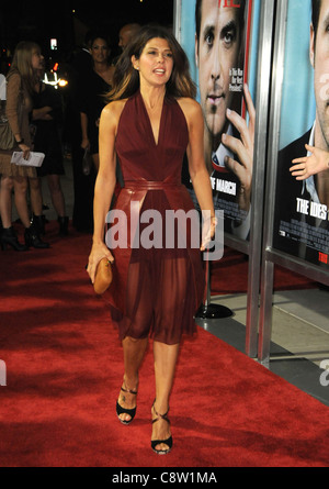 Marisa Tomei (wearing a dress by Marios Schwab) at arrivals for THE IDES OF MARCH Screening, Samuel Goldwyn Theater - Stock Photo