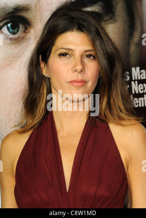 Marisa Tomei at arrivals for THE IDES OF MARCH Screening, Samuel Goldwyn Theater at AMPAS, Los Angeles, CA September - Stock Photo
