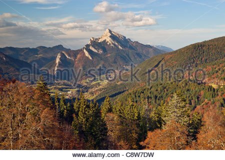 Chartreuse mountain range : Saint-Pierre-de-Chartreuse and the Grand Som - Stock Photo