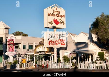 Wedding Little White Chapel  Las Vegas Joan Collins Michel Jordan United States Nevada - Stock Photo