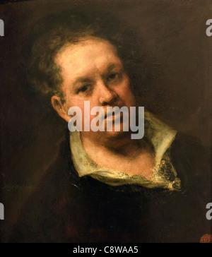 Self-portrait. Francisco Goya at 69 years of age. Francisco José de Goya y Lucientes, 1746 – 1828. Spanish romantic - Stock Photo