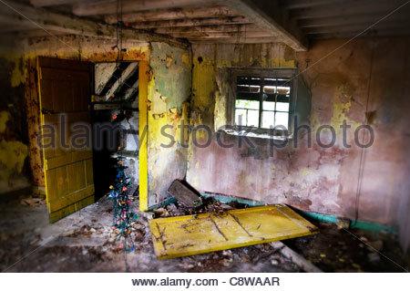 derelict room - Stock Photo