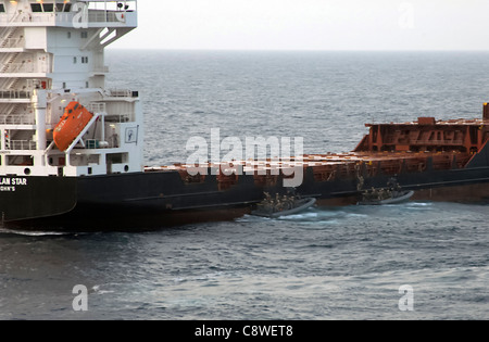 Maritime Raid Force, approach the motor vessel Magellan Star Thursday, Sept. 9 to recover it from suspected pirates.