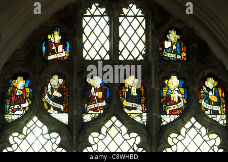 Wiggenhall St. Mary Magdalene, Norfolk, St. Callistus, Hilary, Britius, Aldhelm, Sixtus, Sampson, Germanus, Cuthbert, - Stock Photo