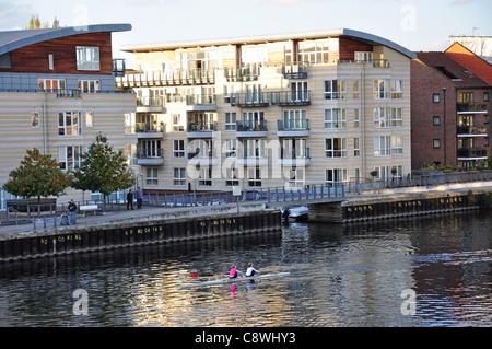 ... Riverside Apartments At Sunset, Kingston Upon Thames, Royal Borough Of  Kingston Upon Thames,