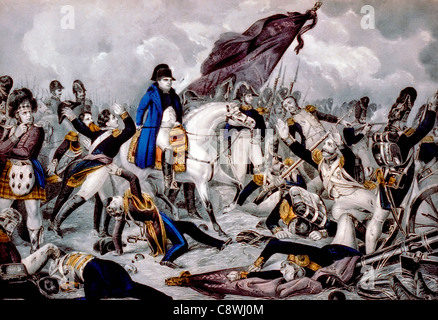Napoleon at the Battle of Waterloo: June 18th 1815 - Stock Photo