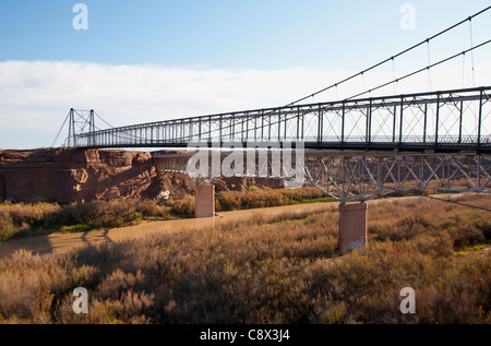 Bridge over the Little Colorado river in Cameron - Stock Photo