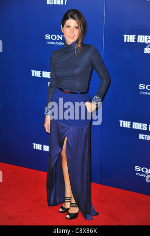 Marisa Tomei wearing Preen dress arrivalsIDES MARCH New York PremiereZiegfeld Theatre New York NY October 5 2011 - Stock Photo