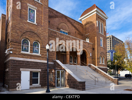 The 16th Street Baptist Church, centre of the civil rights movement in Birmingham, Alabama, USA - Stock Photo