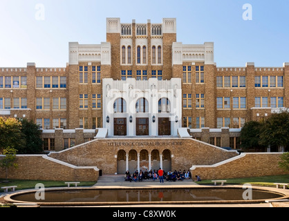 Little Rock Central High School, site of forced desegregation during the Civil Righs Movement, Arkansas, USA - Stock Photo