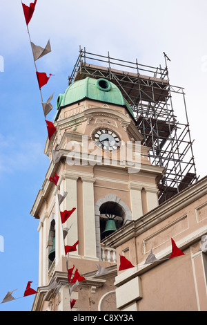 The Cathedral of Saint Mary the Crowned is a Roman Catholic cathedral in Gibraltar. Detail of reconstruction in - Stock Photo