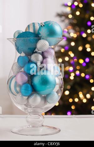 Ornate Glass Vase In Blue Stock Photo 28734804 Alamy