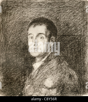 Arthur Wellesley, 1st Duke of Wellington, 1769 - 1852, after the work by Francisco de Goya.   British soldier and - Stock Photo