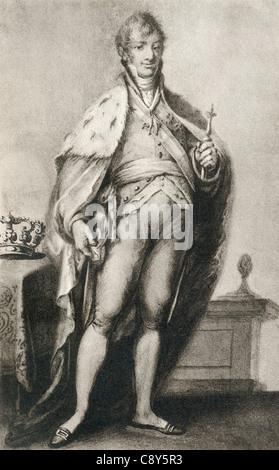 Ferdinand VII, aka Ferdinand the Desired or The Felon King, 1784 – 1833. King of Spain. - Stock Photo