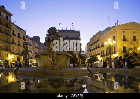Plaza de la Virgin, Valencia, Spain - Stock Photo