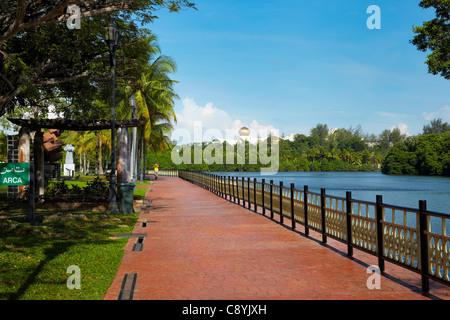 Taman Persiaran Damuan, Bandar Seri Begawan, Brunei Darussalam, Borneo, Asia - Stock Photo