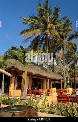 Asia, Vietnam, Nha Trang. The famous 'Sailing Club' beach bar at Nha Trang's beach promenade Tran Phu.... - Stock Photo