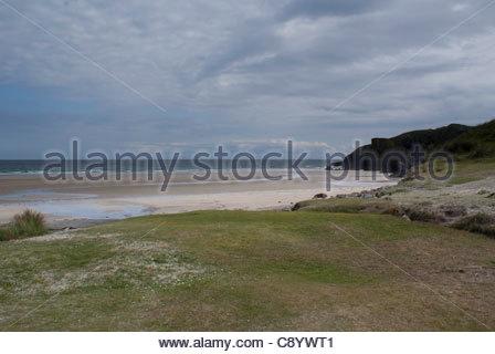 Garry Beach, Isle of Lewis, Outer Hebrides, Scotland, UK - Stock Photo