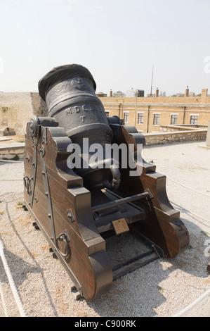 Corfu - the old Castle. A mortar. - Stock Photo