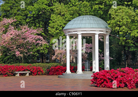 The Old well at the University of North Carolina, in Chapel Hill (UNC). - Stock Photo