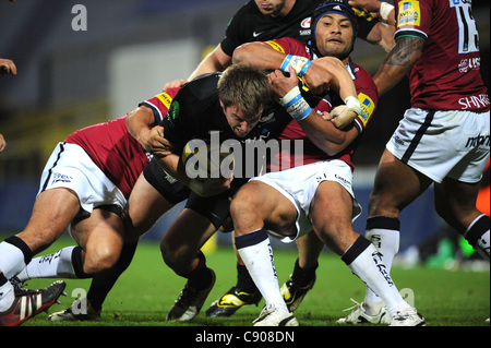 06.11.2011 Watford, England.  Chris Wyles in action during the Aviva Premiership game between Saracens and Sale - Stock Photo