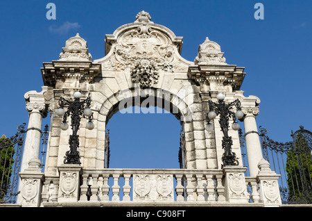 Corvinus Gate Castle Hill Budapest - Stock Photo