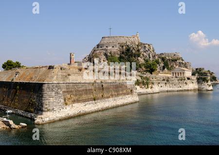 Corfu Town Old Venetian Fortress Kerkyra Greece - Stock Photo