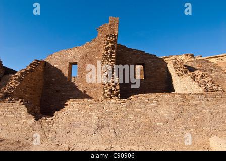 Pueblo Bonito ruin, Chaco Culture National Historical Park, New Mexico. - Stock Photo