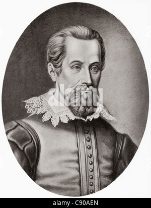 Johannes Kepler 1571 – 1630. German mathematician, astronomer and astrologer. From Bibby's Annual published 1910. - Stock Photo