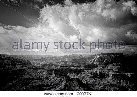 The scene from Lipan Point, Grand Canyon south rim, Arizona. - Stock Photo