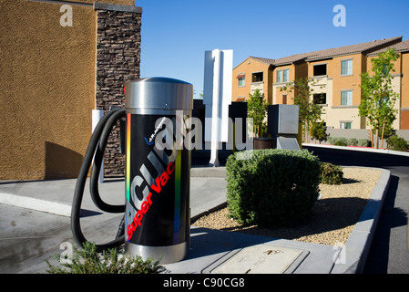 A coin operated vacuum at a gas station / car wash in Las Vegas, Nevada. - Stock Photo