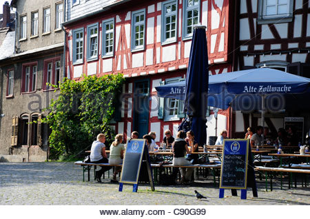 germany hesse frankfurt hoechst old castle stock photo 86902941 alamy. Black Bedroom Furniture Sets. Home Design Ideas