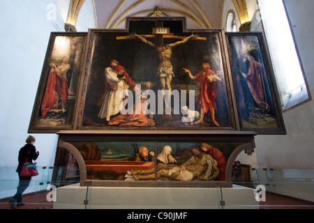 Isenheim altarpiece in Colmar France - Stock Photo