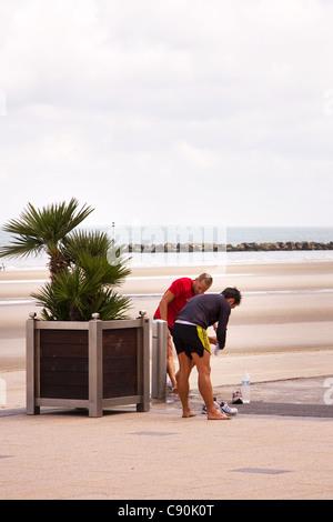 Dunkerque Malo les Bains France - Stock Photo
