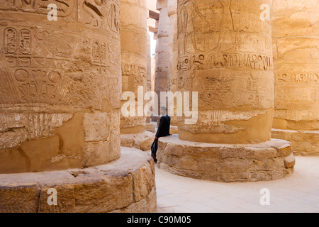 Great Hypostyle Hall, Karnak Temple Komplex, Luxor, ancient Thebes, Egypt, Africa - Stock Photo