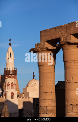Mosque of Abu el Haggag, Temple of Luxor, Luxor, Egypt, Africa - Stock Photo