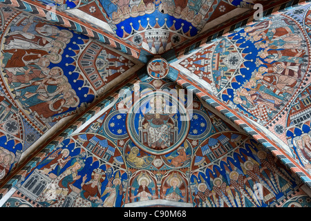 Ceiling fresco at the Nunnery of Wienhausen Convent former Cistercian nunnery is today an evangelical abbey Wienhausen - Stock Photo