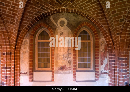 Cloister at Wienhausen Convent former Cistercian nunnery is today an evangelical abbey Wienhausen Lower Saxony Germany - Stock Photo