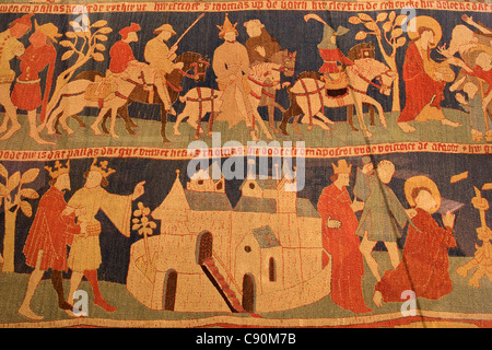 Tapestry at Wienhausen Convent former Cistercian nunnery is today an evangelical abbey Wienhausen Lower Saxony Germany - Stock Photo