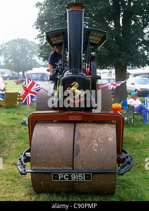 Steam fair events are held over the summer months in various parts of England. There are many old traction engines - Stock Photo