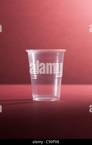 Empty plastic cup, still life - Stock Photo