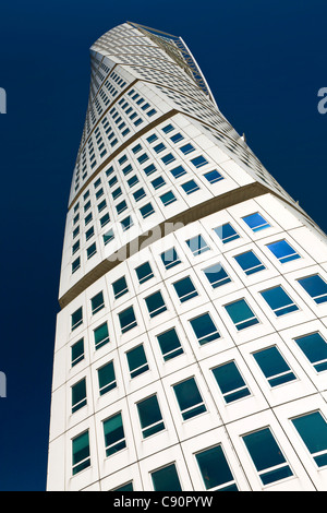 Santiago Calatrava's 'Turning Torso' building, Malmo, Sweden - Stock Photo