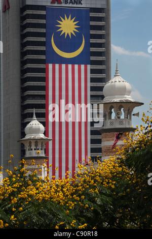Mosque Masjid Jamek in Kuala Lumpur, Kuala Lumpur, Malaysia, Asia - Stock Photo