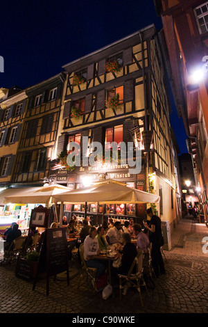 Au Vieux Winstub Strasbourg France - Stock Photo