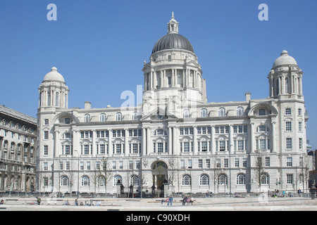 The Mersey Docks and Harbour Building is located at Liverpool's historic river Mersey waterfront. The building is - Stock Photo