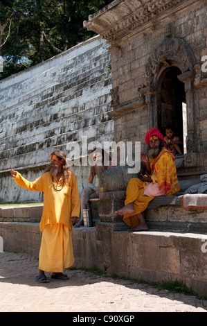 Pashupatinath temple is a Hindu temple regarded as the most sacred temple of Shiva Pashupati in the world. Thousands - Stock Photo