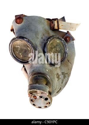 old gas mask - isolated on white background - Stock Photo