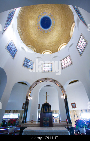 Inside the Chapel on Mount of Beatitudes Israel - Stock Photo